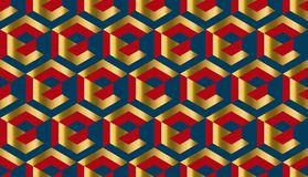 Simple geometry seamless pattern. For background, wrapping paper, fabric. Endless repeatable motif for surface design stock illustration