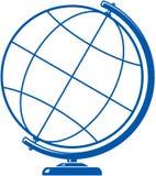 Simple globe icon. Vector Earth globe illustration isolated on white background Royalty Free Stock Photo