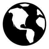 Simple Globe Icon Royalty Free Stock Photography