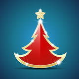 Simple glossy Christmas tree Stock Photo