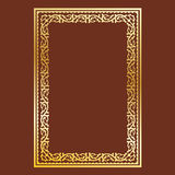 Simple gold frame Royalty Free Stock Photos