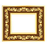 Simple gold frame Stock Photo