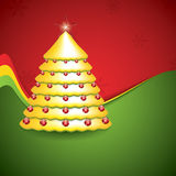 Simple golden and glossy Christmas tree Stock Photography