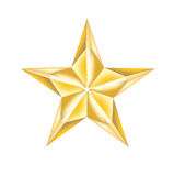 Simple golden star isolated on white Stock Photo