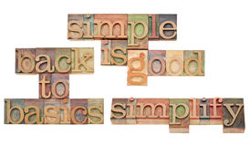 Simple is good concept Stock Photo