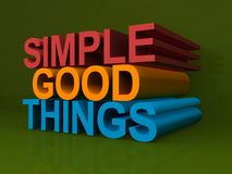 Simple good things Stock Photos
