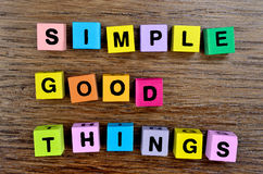 Simple Good Things on table Royalty Free Stock Photography