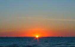 Simple gorgeous sunset Royalty Free Stock Photos