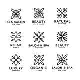Simple and graceful floral monogram design template, Elegant lineart logo design, vector icon illustration. Modern Style Stock Photo