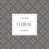 Simple and graceful floral pattern design template, Elegant lineart logo design, vector icon illustration. Modern Style Royalty Free Stock Images
