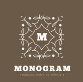 Simple and graceful monogram design template Stock Photo