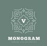 Simple and graceful monogram design template Royalty Free Stock Photography