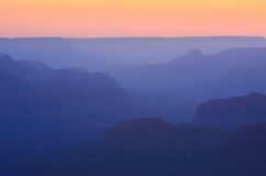 Simple Grand Canyon Sunset Royalty Free Stock Images
