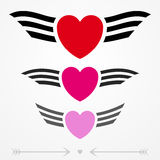 Simple graphic love emblems Stock Photography