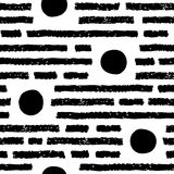 Simple graphic seamless pattern stock illustration
