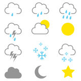 Simple Graphic Of Weather Icons Stock Photo