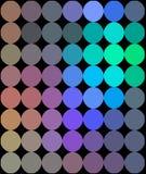 Neon dots mosaic hologram pattern. stock illustration
