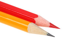 Simple graphite and red pencils Royalty Free Stock Image