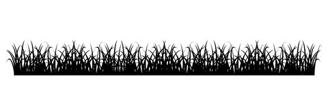 Simple Grass Silhouette Royalty Free Stock Photography