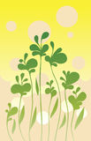 Simple green background. Vector illustration Stock Image