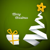 Simple  green christmas card illustration Stock Photography