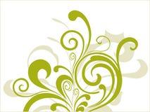 Simple green curves  illustration Stock Photos