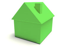 Simple Green House. A 3d render of a simple green house Royalty Free Stock Photos