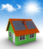 Simple green house Stock Photo