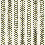 Simple green leaf seamless pattern. Hand drawn natural background. Stock Image