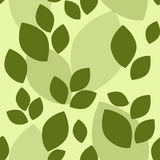 Simple green leaf seamless pattern Royalty Free Stock Photography