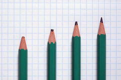 Simple green pencil stock image
