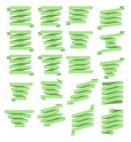 Simple Green Ribbon Banner Set. Four Rows Royalty Free Stock Photos