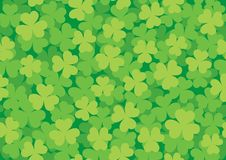 Seamless Clover Pattern Bright Royalty Free Stock Photo