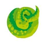 Simple  green snake Royalty Free Stock Photos