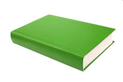Thick green book isolated on white background Royalty Free Stock Photo