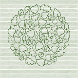 Simple green vector leaves Royalty Free Stock Image