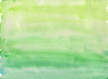 Simple green watercolor background. Simple green gradient watercolor background Royalty Free Stock Image