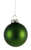 Simple Green Xmas Bauble Royalty Free Stock Image