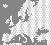 White map of Europe on grey background royalty free illustration