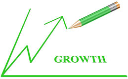 Simple Growth Graph Sketch Stock Photo