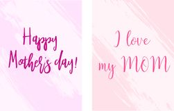 Mother`s day holiday banners vector illustration