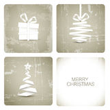 Simple grunge christmas card royalty free illustration