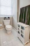 Simple guest half bathroom Stock Photo