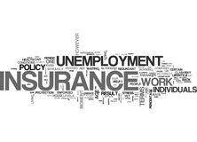 A Simple Guide To Who Can Benefit From Unemployment Insurance Word Cloud Stock Image