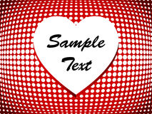 Simple halftone heart Stock Image