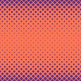 Simple halftone rounded square pattern background - vector design with diagonal squares Stock Photos