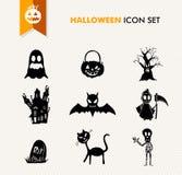 Simple Halloween icon set. royalty free stock photos