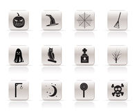 Simple halloween icons Stock Photo