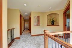 Simple hallway with carpet. Stock Photos