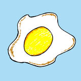 Simple hand draw sketch, Fried Egg Stock Image